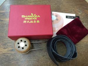 温灸器セット(つぼのガイドブックや持ち運び用の袋、背中に温灸するためのベルトもついていてとってもお得)